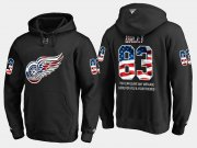 Wholesale Cheap Red Wings #83 Trevor Daley NHL Banner Wave Usa Flag Black Hoodie