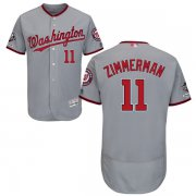 Wholesale Cheap Nationals #11 Ryan Zimmerman Grey Flexbase Authentic Collection 2019 World Series Champions Stitched MLB Jersey