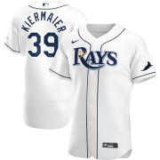 Wholesale Cheap Tampa Bay Rays #39 Kevin Kiermaier Men's Nike White Home 2020 Authentic Player MLB Jersey
