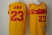 Wholesale Cheap Cleveland Cavaliers #23 LeBron James 2009 Yellow Swingman Throwback Jersey