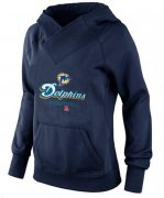 Wholesale Cheap Women's Miami Dolphins Big & Tall Critical Victory Pullover Hoodie Navy Blue