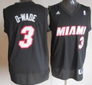 Wholesale Cheap Miami Heat #3 D-Wade Black Fashion Jersey