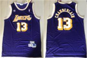 Wholesale Cheap Lakers 13 Wilt Chamberlain Purple Hardwood Classics Jersey