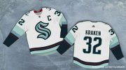 Wholesale Cheap Seattle Kraken #32 Kraken Adidas 2020 New Team White Road Authentic Stitched NHL Jersey