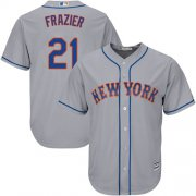 Wholesale Cheap Mets #21 Todd Frazier Grey New Cool Base Stitched MLB Jersey