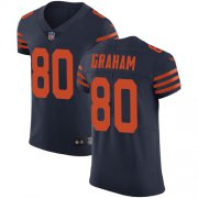 Wholesale Cheap Nike Bears #80 Jimmy Graham Navy Blue Alternate Men's Stitched NFL Vapor Untouchable Elite Jersey