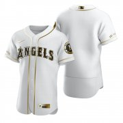 Wholesale Cheap Los Angeles Angels Blank White Nike Men's Authentic Golden Edition MLB Jersey