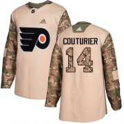 Wholesale Cheap Adidas Flyers #14 Sean Couturier Camo Authentic 2017 Veterans Day Stitched NHL Jersey