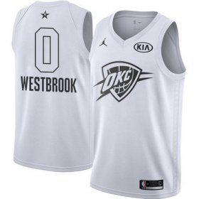 Wholesale Cheap Nike Thunder #0 Russell Westbrook White NBA Jordan Swingman 2018 All-Star Game Jersey