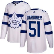 Wholesale Cheap Adidas Maple Leafs #51 Jake Gardiner White Authentic 2018 Stadium Series Stitched NHL Jersey