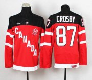 Wholesale Cheap Olympic CA. #87 Sidney Crosby Red 100th Anniversary Stitched NHL Jersey
