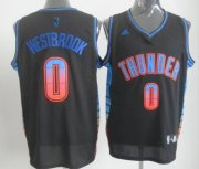 Wholesale Cheap Oklahoma City Thunder #0 Russell Westbrook 2012 Vibe Black Fashion Jersey