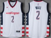 Wholesale Cheap Men's Washington Wizards #2 John Wall White Stitched NBA 2016-17 Adidas Revolution 30 Swingman Jersey