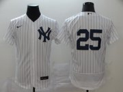 Wholesale Cheap New York Yankees #25 Gleyber Torres Men's Nike White Navy Home 2020 Authentic Player MLB Jersey