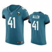 Wholesale Cheap Jacksonville Jaguars #41 Josh Allen Teal 25th Season Vapor Elite Stitched NFL Jersey