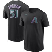 Wholesale Cheap Arizona Diamondbacks #51 Randy Johnson Nike Cooperstown Collection Name & Number T-Shirt Black