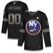 Wholesale Cheap Men's Adidas Islanders Personalized Authentic Black Classic NHL Jersey