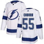Cheap Adidas Lightning #55 Braydon Coburn White Road Authentic Stitched Youth NHL Jersey