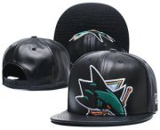 Wholesale Cheap San Jose Sharks Snapback Ajustable Cap Hat GS 5