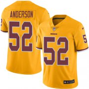 Wholesale Cheap Nike Redskins #52 Ryan Anderson Gold Men's Stitched NFL Limited Rush Jersey