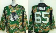 Wholesale Cheap Blackhawks #65 Andrew Shaw Camo Veterans Day Practice Stitched Youth NHL Jersey