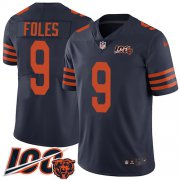 Wholesale Cheap Nike Bears #9 Nick Foles Navy Blue Alternate Youth Stitched NFL 100th Season Vapor Untouchable Limited Jersey
