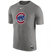 Wholesale Cheap Chicago Cubs Nike Authentic Collection Legend Logo 1.5 Performance T-Shirt Gray