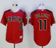 Wholesale Cheap Diamondbacks #11 A. J. Pollock Red/Brick New Cool Base Stitched MLB Jersey