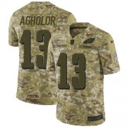 Wholesale Cheap Nike Eagles #13 Nelson Agholor Camo Youth Stitched NFL Limited 2018 Salute to Service Jersey
