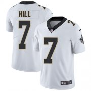 Wholesale Cheap Nike Saints #7 Taysom Hill White Men's Stitched NFL Vapor Untouchable Limited Jersey