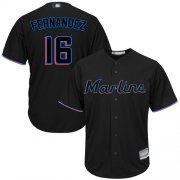 Wholesale Cheap Marlins #16 Jose Fernandez Black Cool Base Stitched Youth MLB Jersey