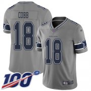 Wholesale Cheap Nike Cowboys #18 Randall Cobb Gray Men's Stitched NFL Limited Inverted Legend 100th Season Jersey