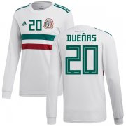 Wholesale Cheap Mexico #20 Duenas Away Long Sleeves Soccer Country Jersey