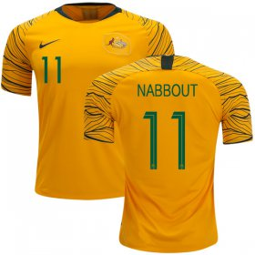 Wholesale Cheap Australia #11 Nabbout Home Soccer Country Jersey