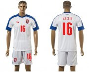 Wholesale Cheap Czech #16 Vaclik Away Soccer Country Jersey