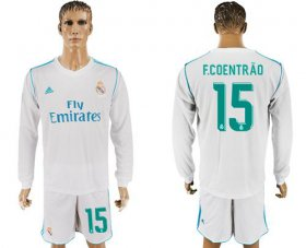 Wholesale Cheap Real Madrid #15 F.Coentrao White Home Long Sleeves Soccer Club Jersey