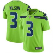 Wholesale Cheap Nike Seahawks #3 Russell Wilson Green Youth Stitched NFL Limited Rush Jersey