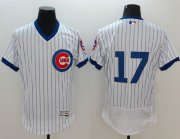 Wholesale Cubs #17 Kris Bryant White Flexbase Authentic Collection Cooperstown Stitched Baseball Jersey