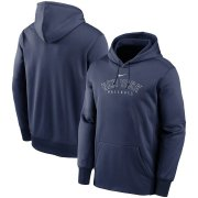 Wholesale Cheap New York Yankees Nike Outline Wordmark Fleece Performance Pullover Hoodie Navy
