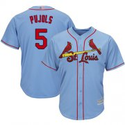 Wholesale Cheap Cardinals #5 Albert Pujols Light Blue Cool Base Stitched Youth MLB Jersey