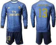 Wholesale Cheap Real Madrid #13 Courtois Away Long Sleeves Soccer Club Jersey