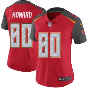 Wholesale Cheap Nike Buccaneers #80 O. J. Howard Red Team Color Women\'s Stitched NFL Vapor Untouchable Limited Jersey