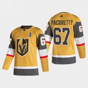 Cheap Vegas Golden Knights #67 Max Pacioretty Men's Adidas 2020-21 Authentic Player Alternate Stitched NHL Jersey Gold