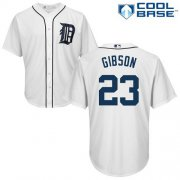 Wholesale Cheap Tigers #23 Kirk Gibson White Cool Base Stitched Youth MLB Jersey
