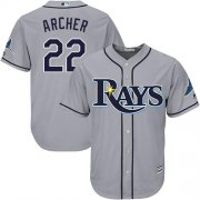 Wholesale Cheap Rays #22 Chris Archer Grey Cool Base Stitched Youth MLB Jersey