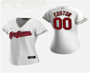Wholesale Cheap Women's Custom Cleveland Indians 2020 White Home Nike Jersey