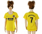 Wholesale Cheap Women's Atletico Madrid #7 Griezmann Away Soccer Club Jersey