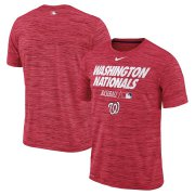 Wholesale Cheap Washington Nationals Nike Authentic Collection Velocity Team Issue Performance T-Shirt Red