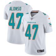 Wholesale Cheap Nike Dolphins #47 Kiko Alonso White Men's Stitched NFL Vapor Untouchable Limited Jersey