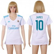 Wholesale Cheap Women's Real Madrid #10 James Home Soccer Club Jersey
